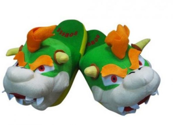 Novelty Super Mario Bowser Slippers