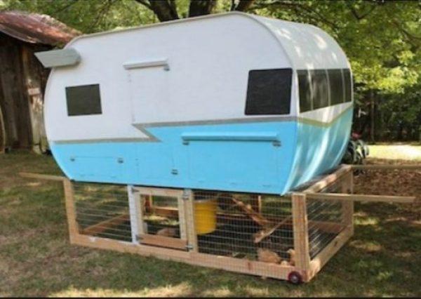 Chicken Coop Made From a Caravan