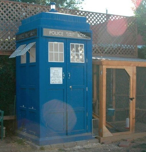 Chicken Coop Made From a TARDIS