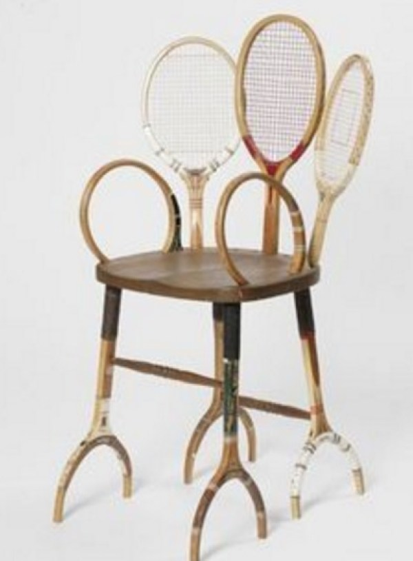 Sports Racket Transformed Into a Chair