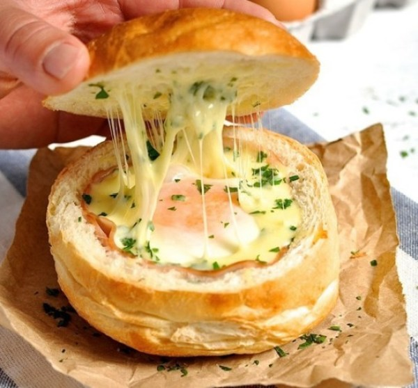 Ham, Egg & Cheese Bread Bowl