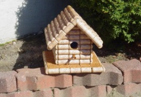 Birdhouse Made From Corks