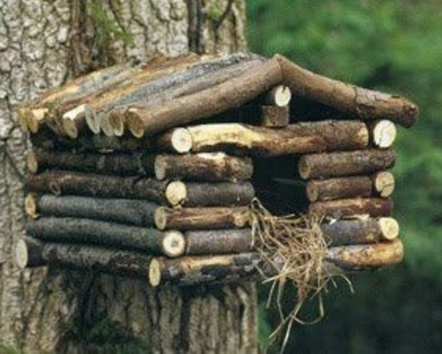 Birdhouse Made From Twigs