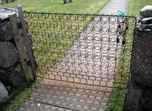 Bed Frame Used to Make a Gate