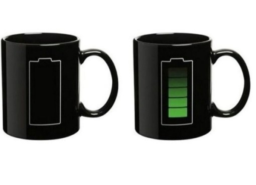 Battery Charge Heat Changing Mug