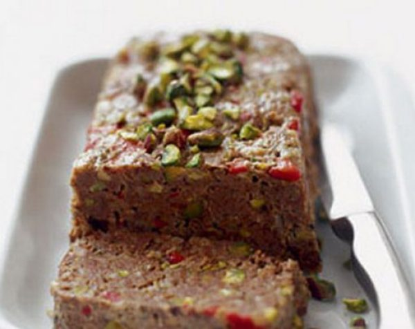 Moroccan Meatloaf With Pistachios and Peppers