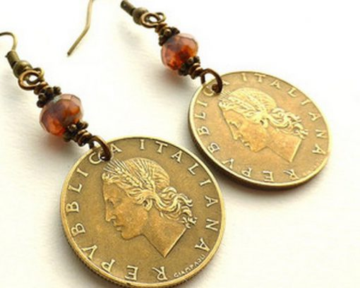 Coins Recycled Into Earrings