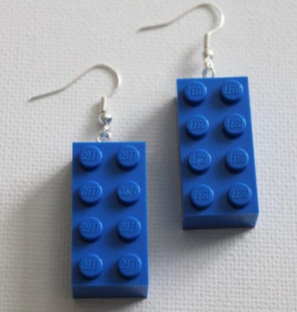 LEGO Bricks Recycled Into Earrings