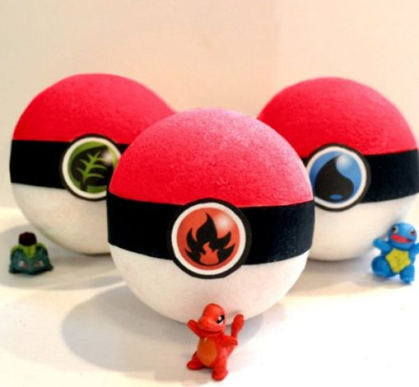 Pokéball Bath Bombs
