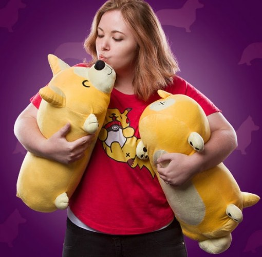 Cutesy Corgi Roll Pillow