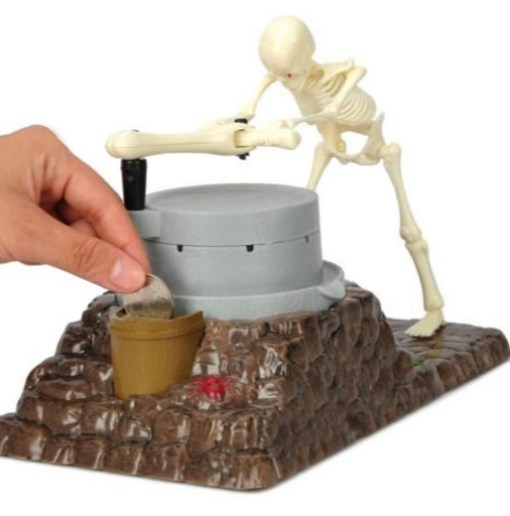 Skeleton Ghost Grinding Money Box