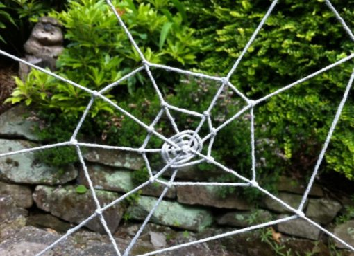 Old Rope Turned into a Spiders Web