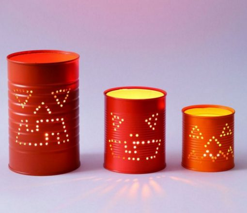 Jack-o'-lantern Cans