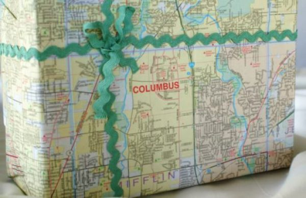 Gift Wrapped in Map Pages