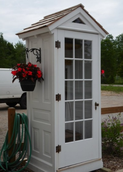 Doors Transformed Into a Garden Shed