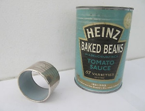 Tin Can Turned into Napkin Rings