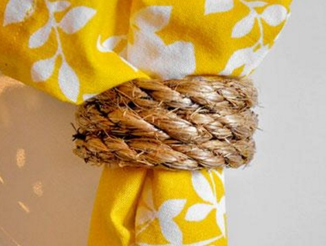 Rope Recycled into Napkin Rings