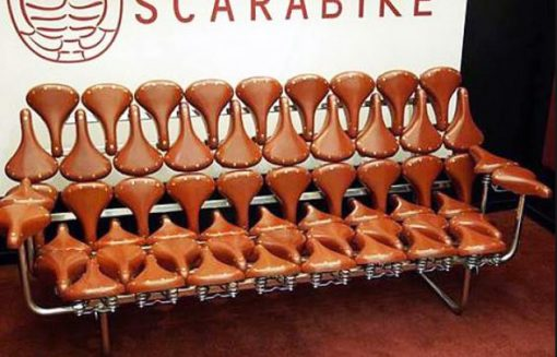 Sofa Made From a Repurposed Bicycle Seats