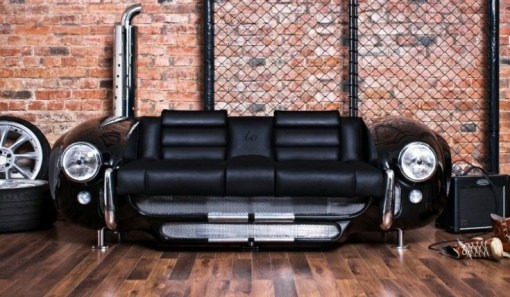 Sofa Made From a Repurposed Car Parts