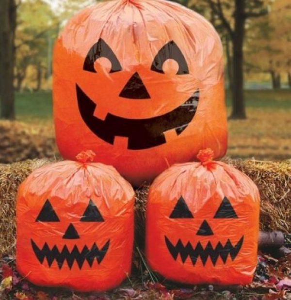 Halloween Pumpkin Novelty Bin Bags