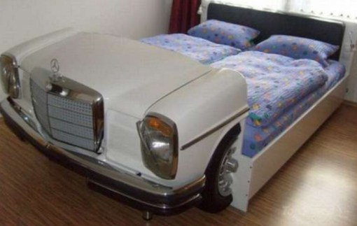Repurposed Mercedes-Benz Made into a Bed