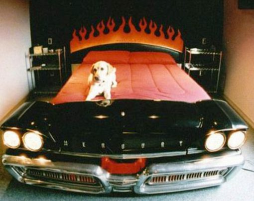 Repurposed Vintage American Car Made into a Bed