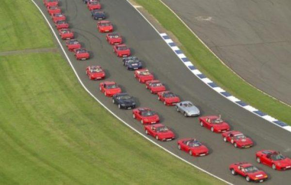 Longest parade of Ferraris