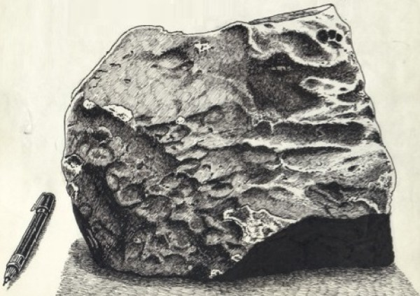 The Wold Cottage, Yorkshire Meteorite