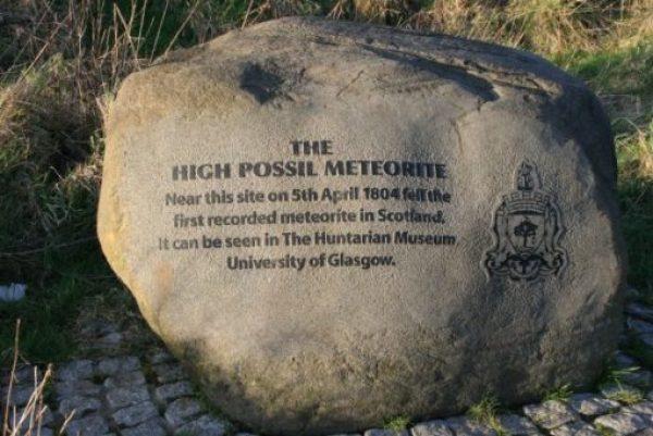 High Possil, Glasgow Meteorite