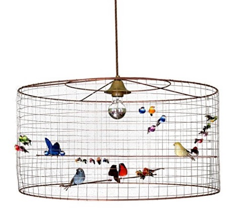 La Volière Bird Cage Light Shade by Mathieu Challières