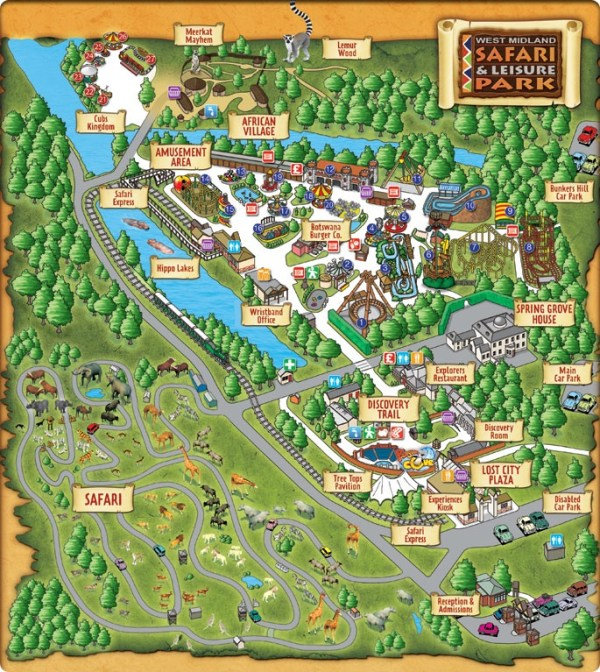 West Midland Safari Park Map