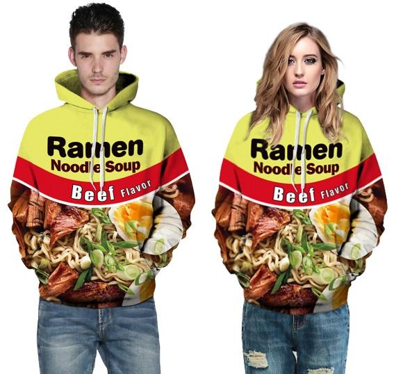 Ramen Noodle 3D printing Hooded Sweatshirt
