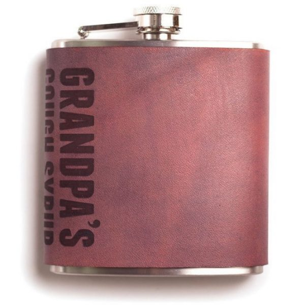 Grandpa's Cough Syrup Hip Flask