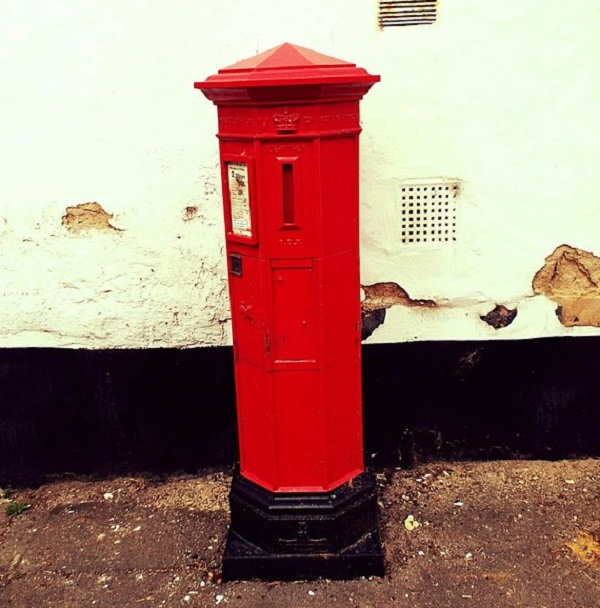 Pillar Box in Double Street, Suffolk