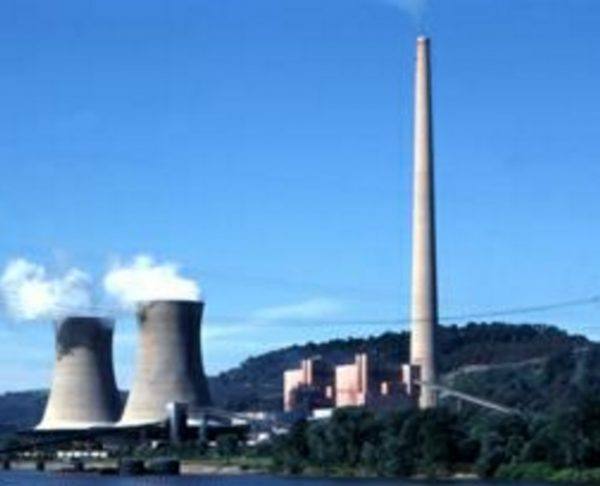 Chimney of Mitchell Power Plant, Moundsville, West Virginia, USA