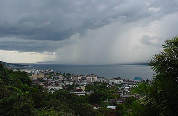 Ambon, Maluku in the Rain