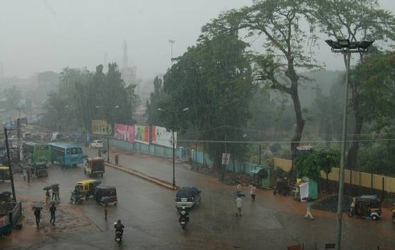 Mangalore, India in the Rain