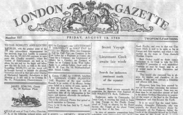 The London Gazette Newspaper