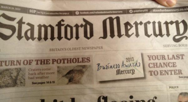 The Stamford Mercury Newspaper