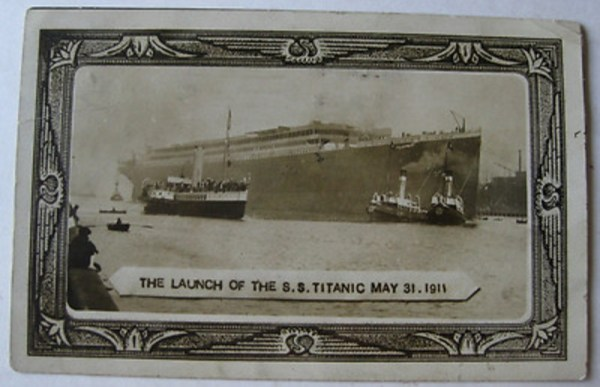 The launch of the RMS Titanic