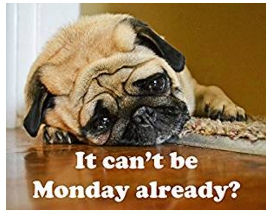 """it can't be monday already"" Mouse Mat"