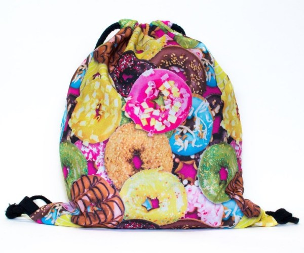 Donuts Invasion Drawstring Bag