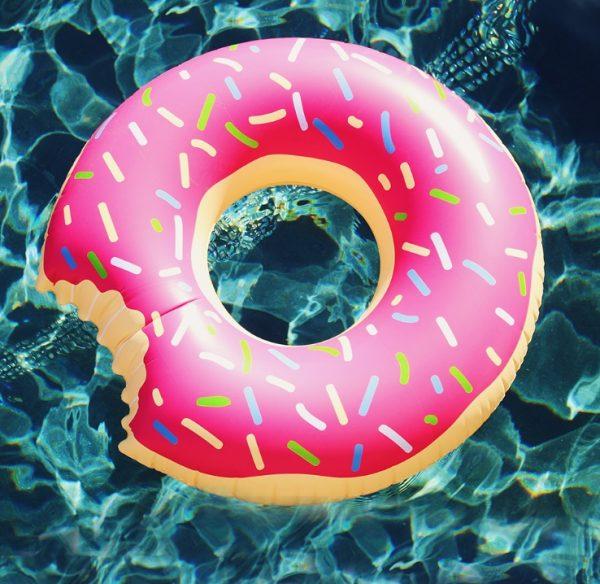 Strawberry Donut Float