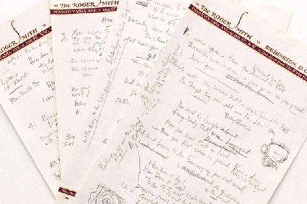 Bob Dylan's Hand-Written Lyrics To Like a Rolling Stone