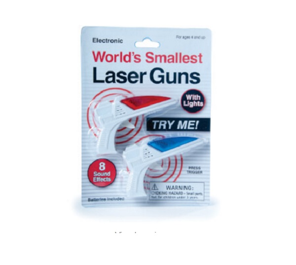 The world's Smallest Laser Guns