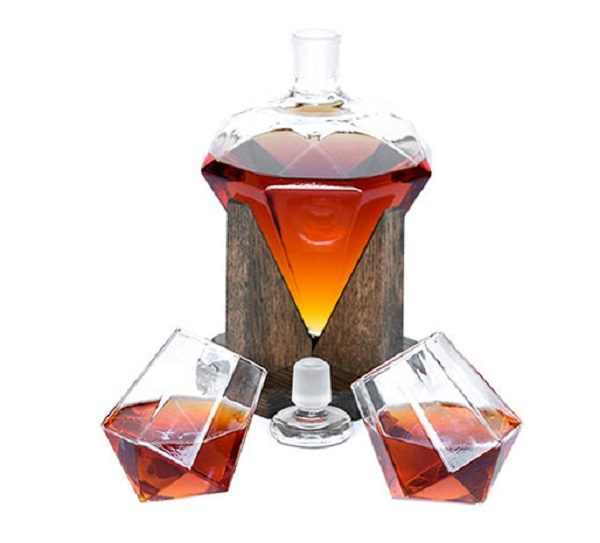 Diamond Shaped Whisky Decanter