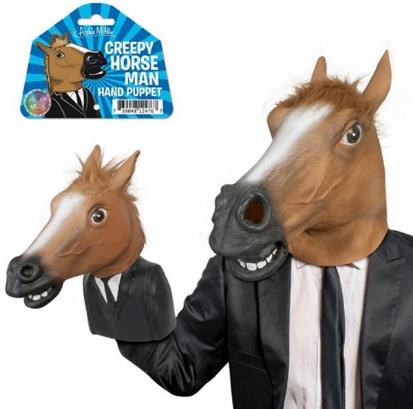 Creepy Horse Man Hand Puppet