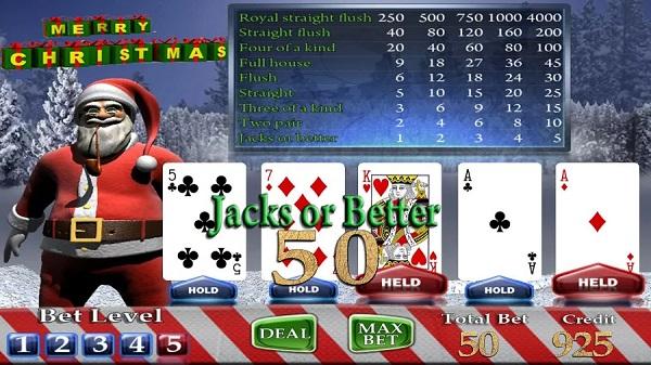Christmas Poker Jack's/Better