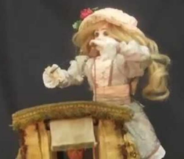 Automaton of a pumpkin-eater by Gustave Vichy, French