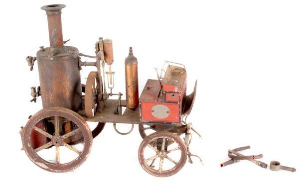 Tinplate spirit-fired fire-engine by Marklin, German